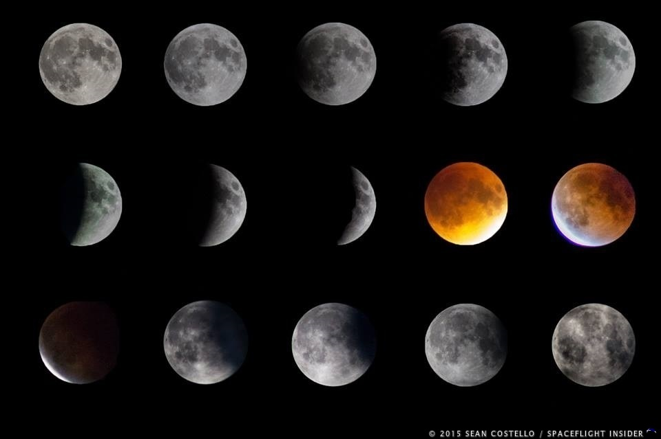 Havest super moon solar lunar eclipse photo credit Sean Costello SpaceFlight Insider