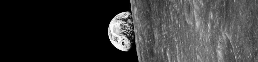 Black and White image of the Earth as seen by the Apollo 8 crew from the Moon photo credit Bill Anders / NASA posted on SpaceFlight Insider