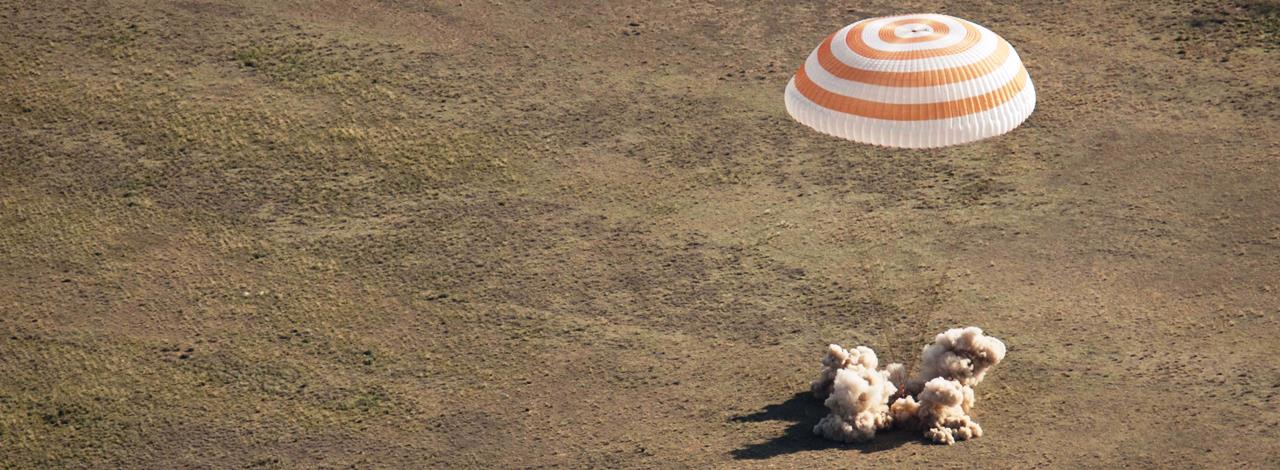 Archive photo of Russian Soyuz spacecraft landing in Kazakhstan Photo Credit Bill Ingalls NASA posted on SpaceFlight Insider - Copy