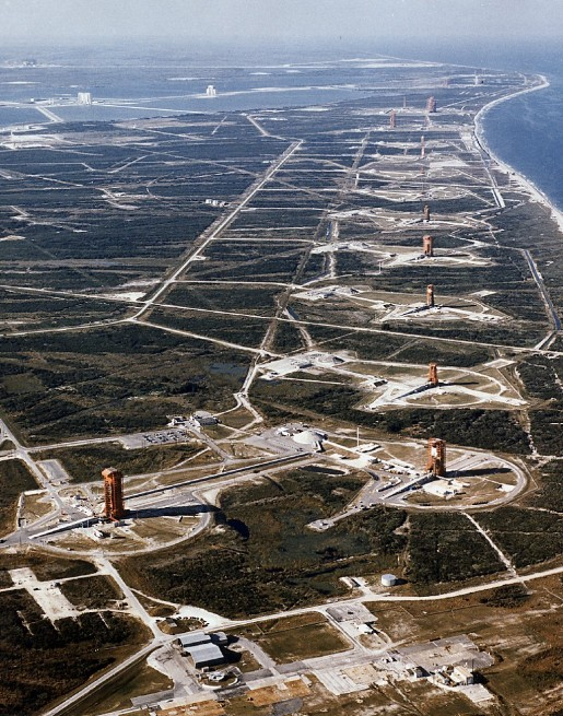 Cape Canaveral Air Force Station launch row U.S. Air Force photo posted on SpaceFlight Insider