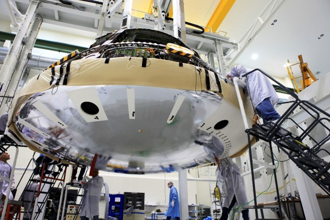 NASA Kennedy Space Center Orion spacecraft Lockheed Martin photo posted on SpaceFlight Insider
