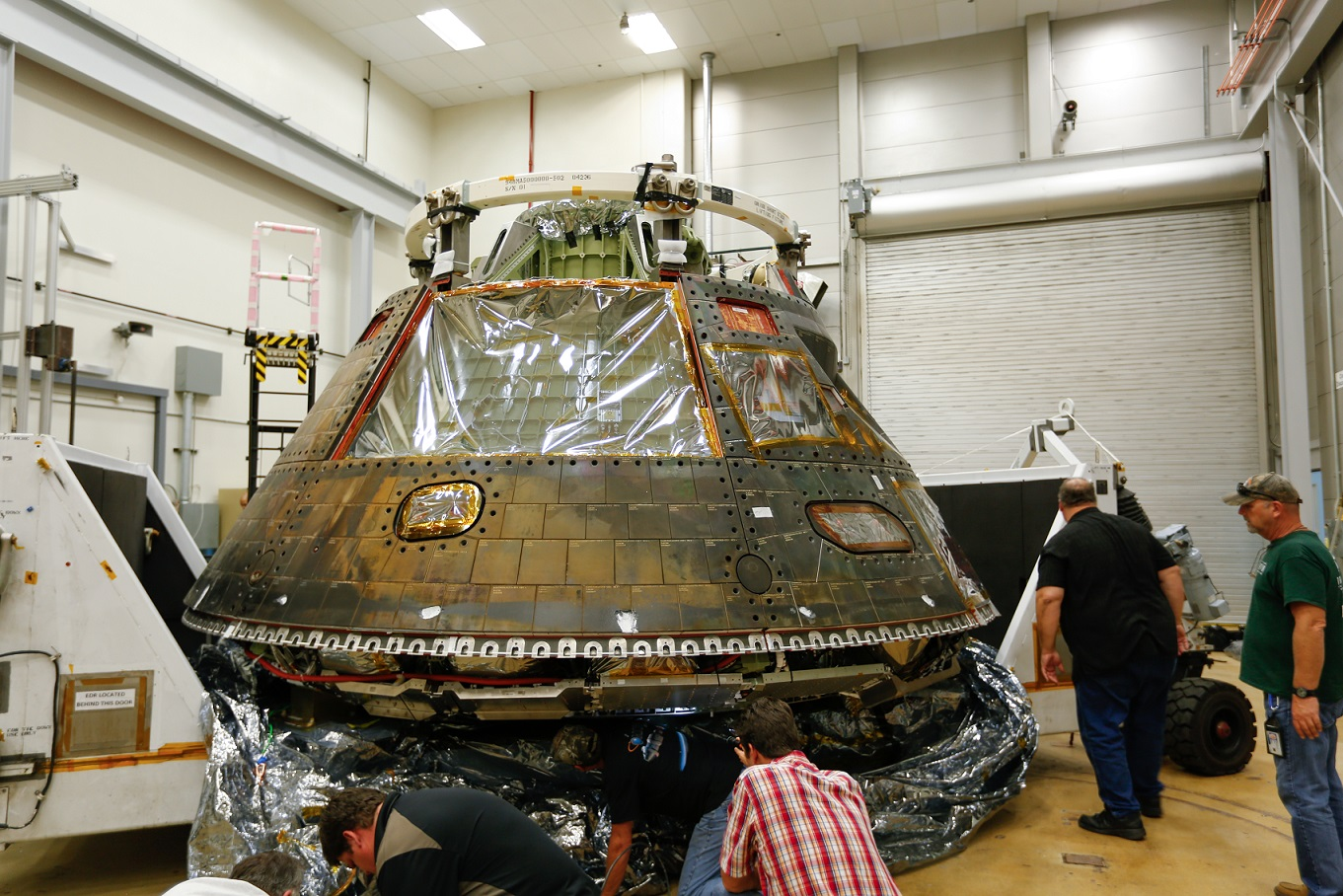 Orion spacecraft arrives to the Lockheed Martin Space Systems Company headquarters in Littleton, Colorado.