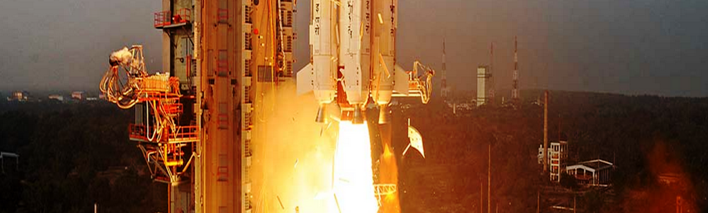 Polar Satellite Launch Vehicle takes off from Satish Dhawan ISRO image posted on SpaceFlight Insider
