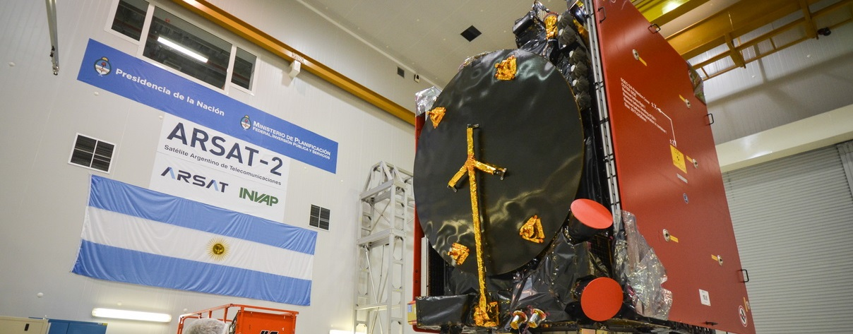 ARSAT-2 satellite being readied for the Arianespace VA226 mission.