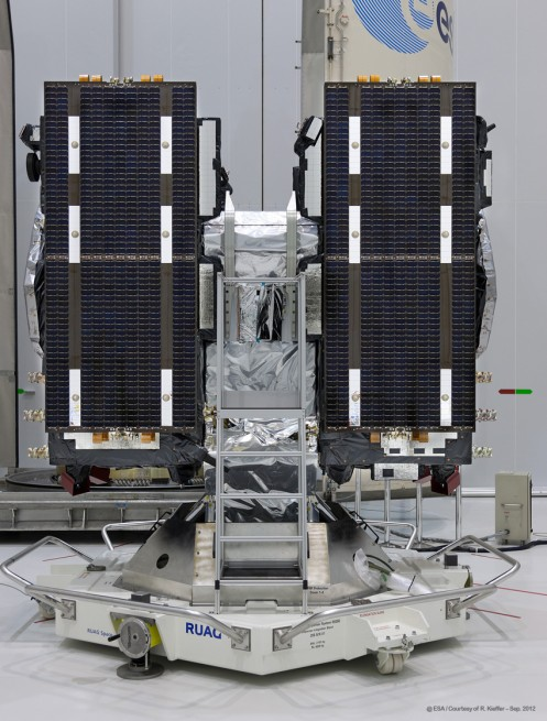 Two Galileo spacecraft Arianespace image posted on SpaceFlight Insider