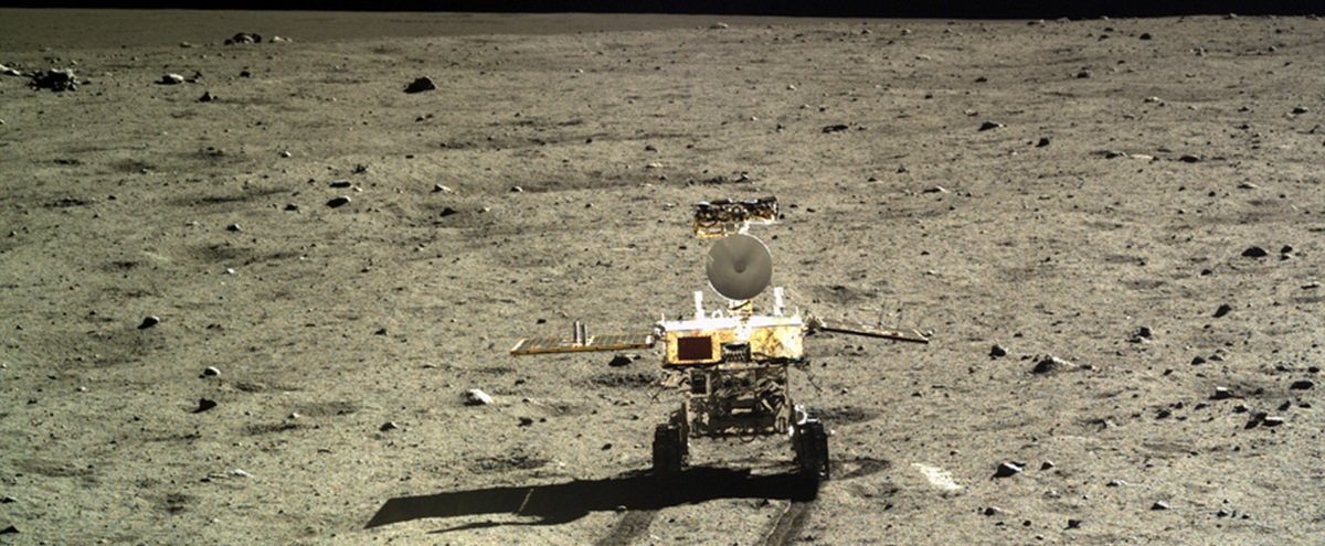 Chinese Yutu rover on the moon.