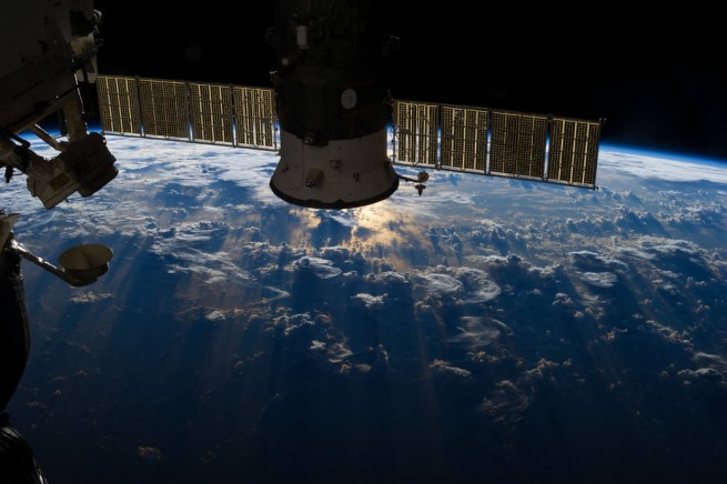 Soyuz spacecraft docked to International Space Station NASA image posted on SpaceFlight Insider