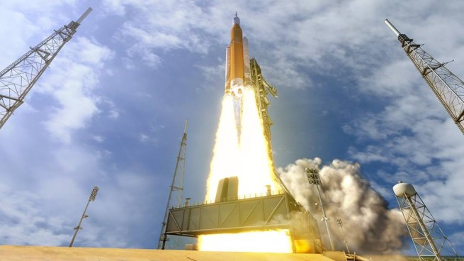 NASA Space Launch System SLS Orion Marshall Space Flight Center Boeing Orbital ATK Lockheed Martin NASA photo posted on SpaceFlight Insider