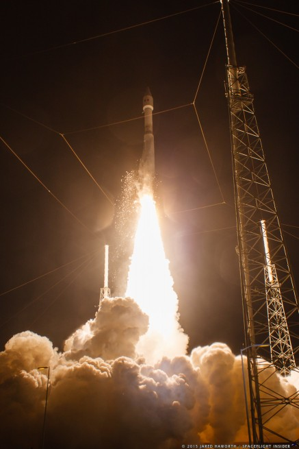 United Launch Alliance Atlas V 421 rocket lifts off with Morelos-3 satellite from Cape Canaveral Air Force Station's Space Launch Complex 41 photo credit Jared Haworth SpaceFlight Insider