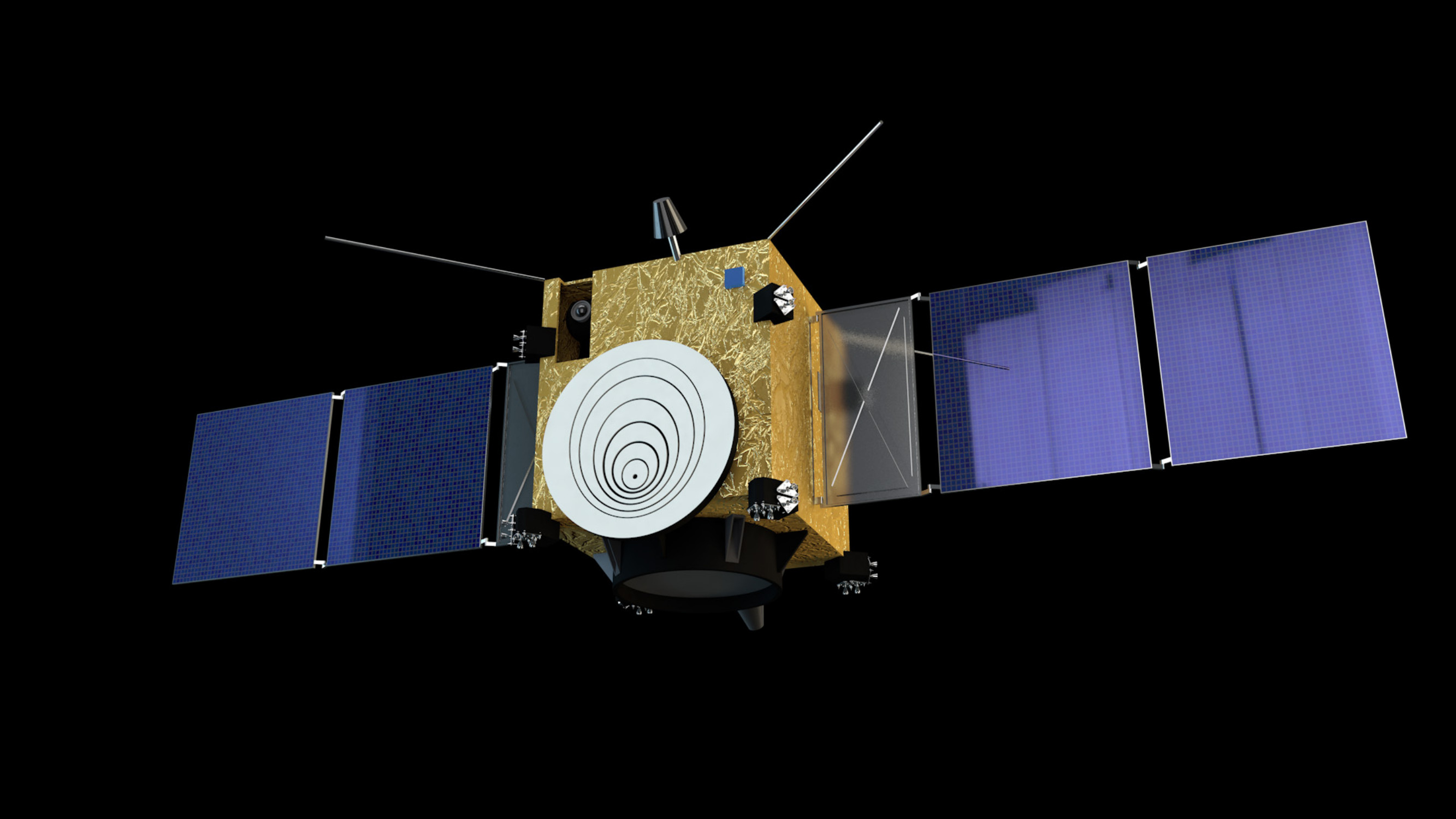 Artist's rendering of the AIM spacecraft.