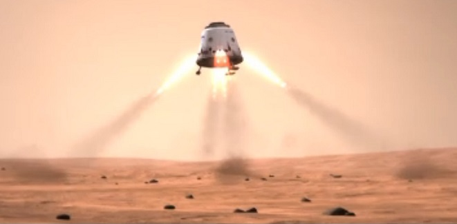 artist s conception of a dragon landing on mars image credit spacex