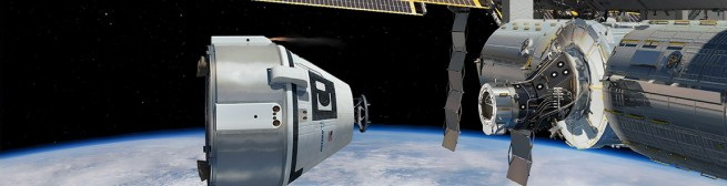 CST-100 docking with ISS