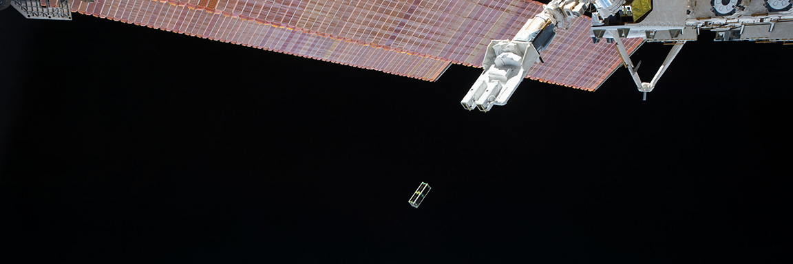 CubeSat deployed on ISS