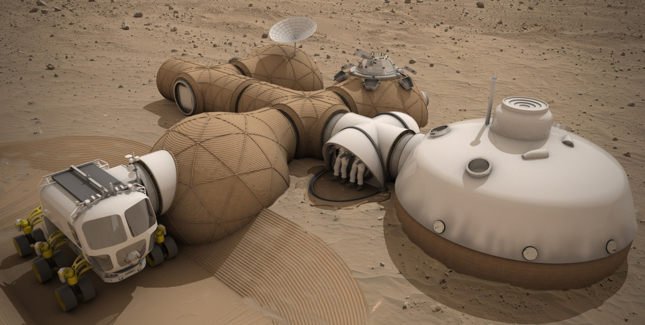 Team LavaHive was awarded third place honors for their Mars habitat design. Image Credit: Team LavaHive