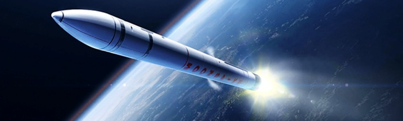 Moonspike rocket in orbit above earth Kickstarter campaign-funded rocket Moonspike image posted on SpaceFlight Insider - Copy