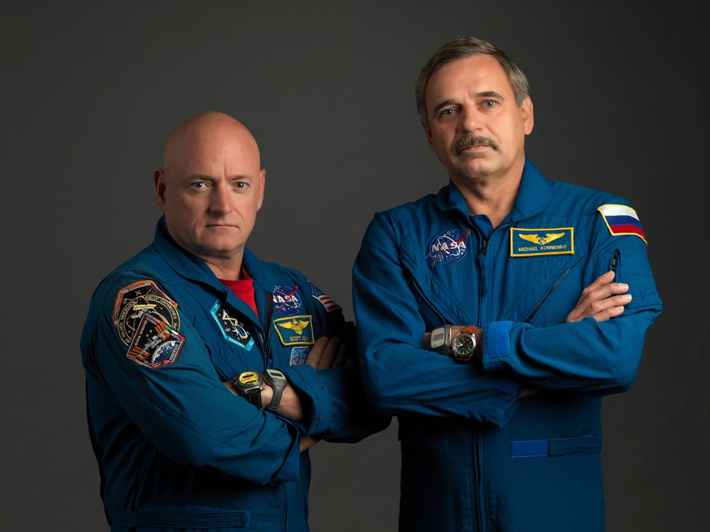 NASA image of astronaut Scott Kelly and Russian cosmonaut Mikhail Kornienko - the duo who are spending one year on the International Space Station Bill Stafford / NASA photo posted on SpaceFlight Insider