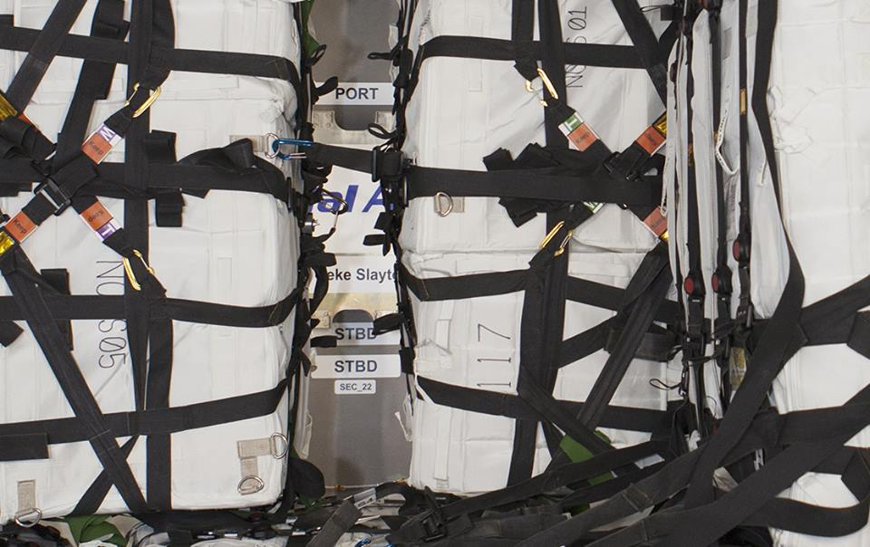 Orbital ATK OA-4 Cygnus cargo vessel appears to also be named Deke Slayton. NASA photo posted on SpaceFlight Insider