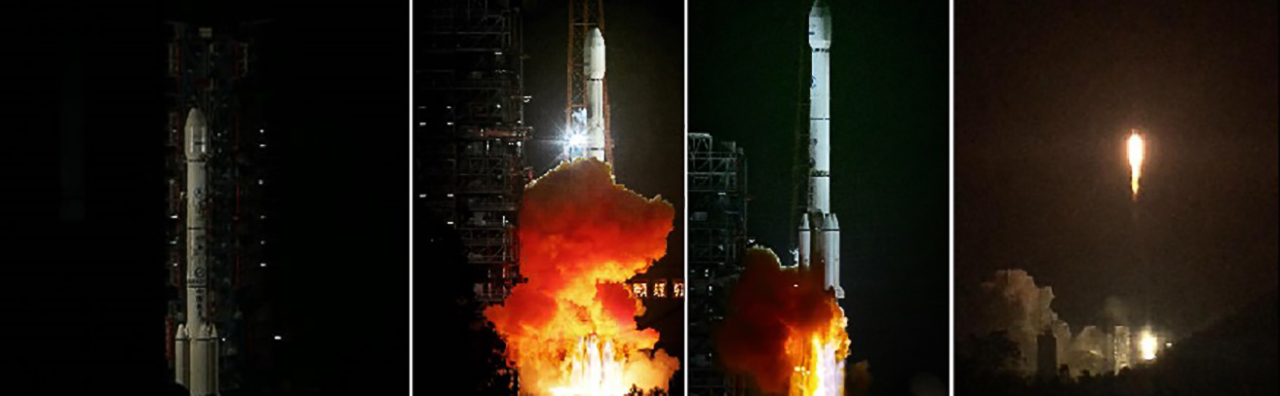 China successfully launched the APStar-9 commercial communications satellite using its Long March 3B rocket on Friday, Oct. 15.