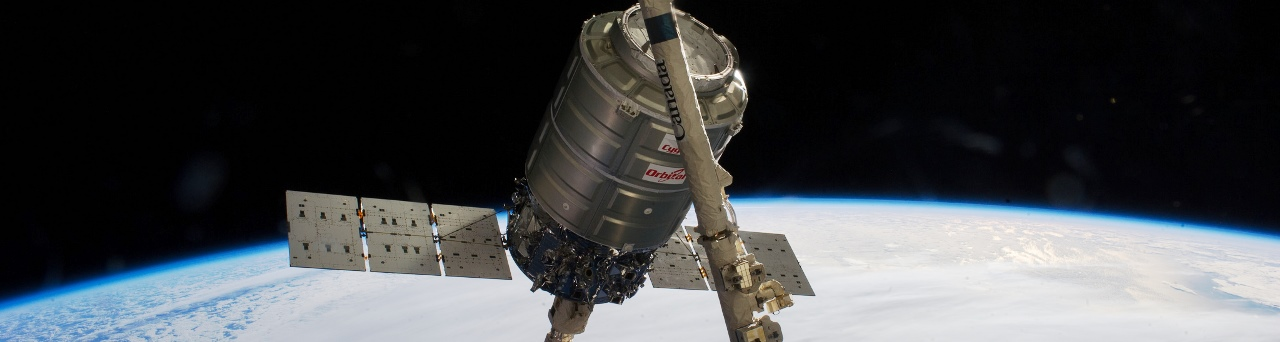 International Space Station Orbital ATK Cygnus spacecraft Orb-2 NASA photo posted on SpaceFlight Insider