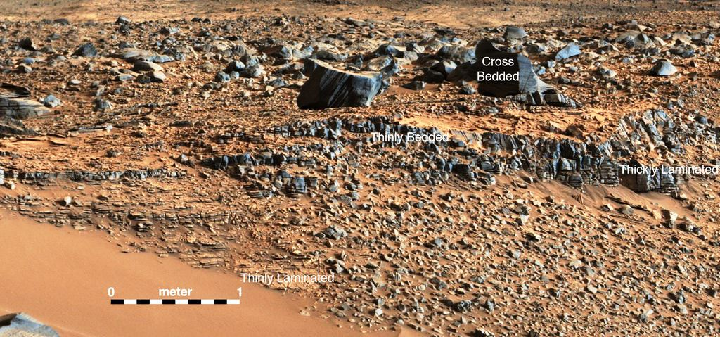 mars-curiosity-rover-gale-crater-bed-rocks-NASA photo posted on SpaceFlight Insider