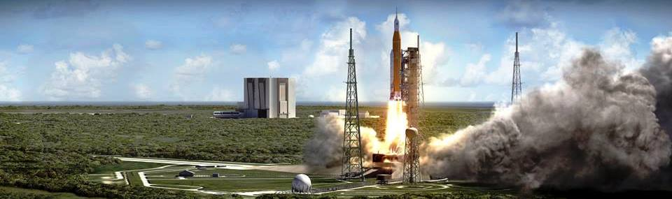 Space Launch System rocket lifting off from Kennedy Space Center Launch Complex 39B with Orion spacecraft NASA image posted on SpaceFlight Insider