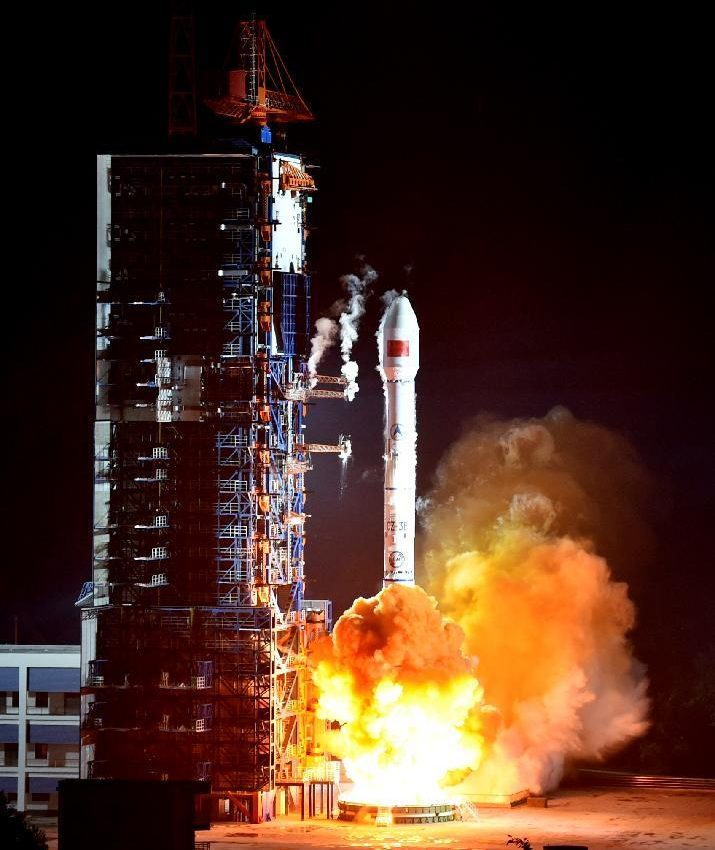 A Long March 3B carrier rocket carrying the ChinaSat-2C satellite blasts off from the Xichang Satellite Launch Center on Nov. 3, 2015.