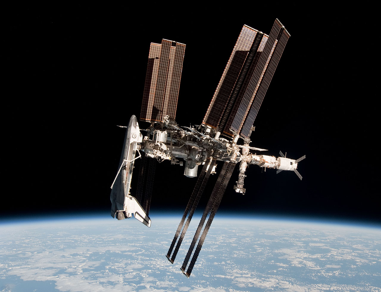 ISS during STS-134