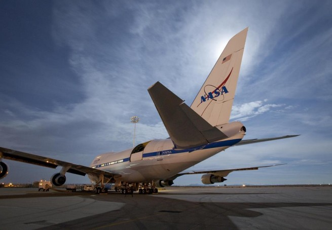 Stratospheric Observatory for Infrared Astronomy (SOFIA) 747 aircraft NASA photo posted on SpaceFlight Insider