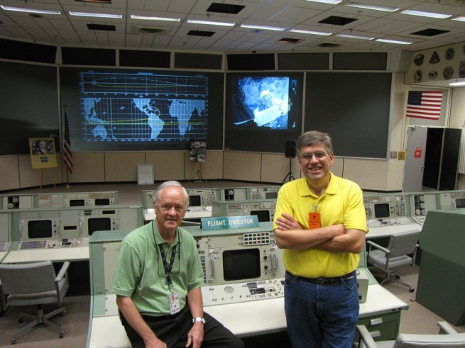 NASA MOCR Milt Heflin Rick Houston photo courtesy of the author posted with permission on SpaceFlight Insider