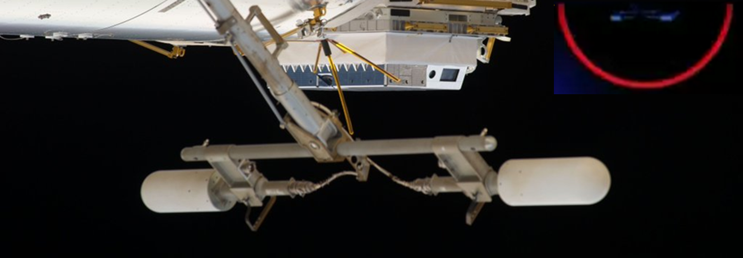 UHF Antenna on the International Space Station's Destiny Module NASA photo posted on SpaceFlight Insider