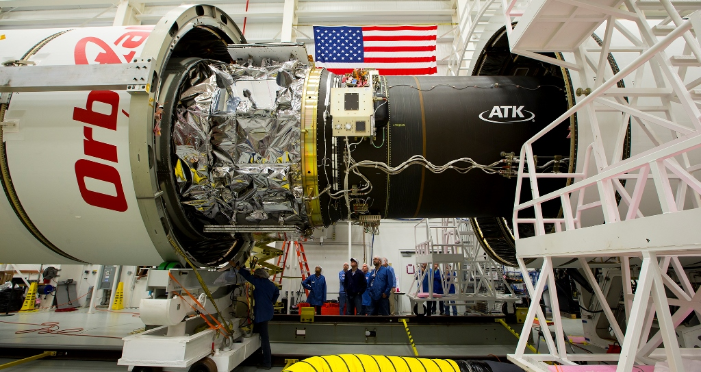 Orbital ATK is working to have the new enhanced version of their Antares rocket launch in late spring of 2016. Photo Credit: NASA