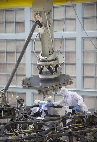 James Webb Space Telescope first mirror installed NASA photo posted on SpaceFlight Insider