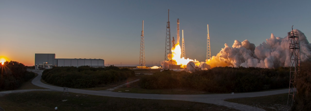 Launch of NASA NOAA DSCOVR mission on February 11 2015 from Cape Canaveral Air Force Station Space Launch Complex 40 atop a SpaceX Falcon 9 v1,1 rocket SpaceX photo posted on SpaceFlight Insider