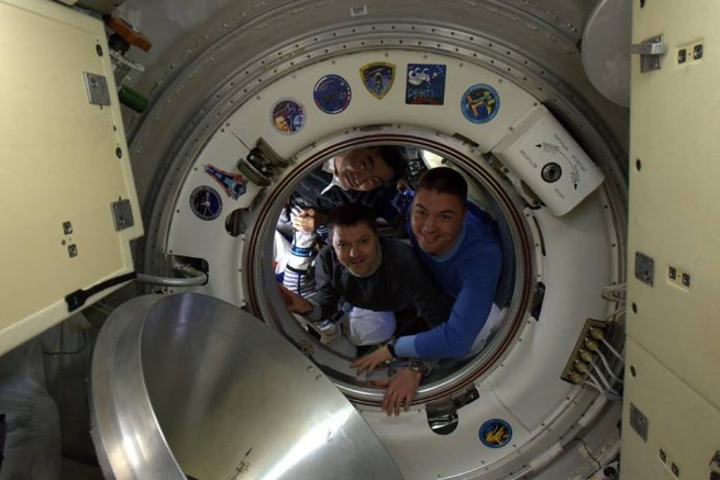 Expedition 45 crew members prepare to depart from the International Space Station NASA photo posted on SpaceFlight Insider