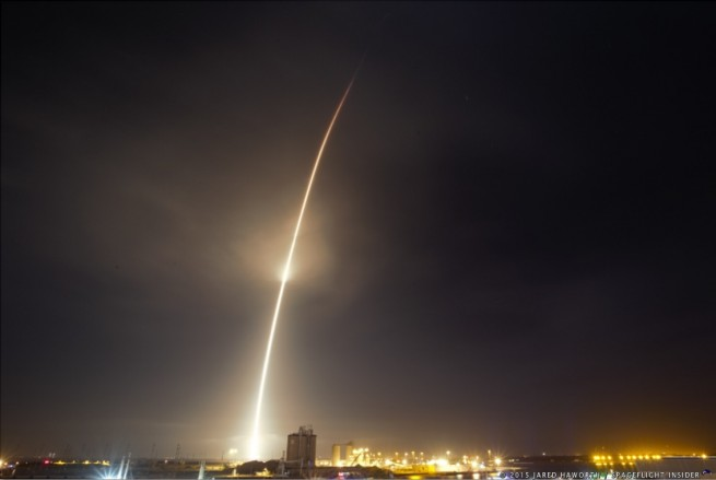 SpaceX Falcon 9 Orbcomm OG2 launches from Cape Canaveral Air Force Station Space Launch Complex 40 photo credit Jared Haworth SpaceFlight Insider