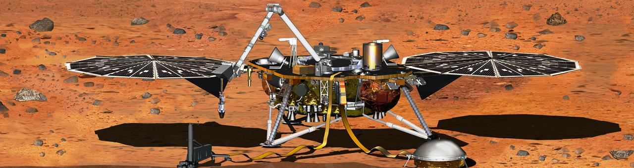NASA InSight probe on the surface of Mars NASA JPL image posted on SpaceFlight Insider