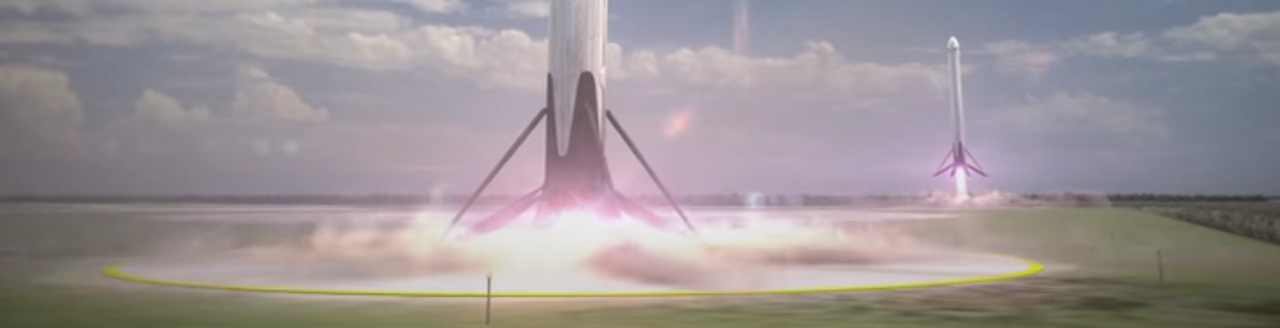Artist rendition of landing