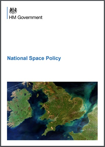 "Front cover of the ""National Space Policy"""