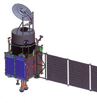 Artist's rendering of the Kanopus-ST satellite.