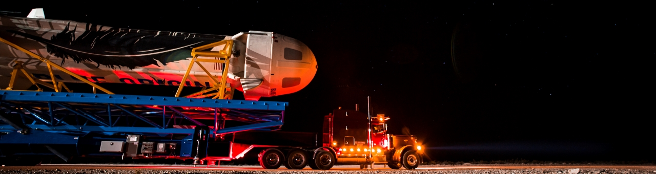 Rollout of Blue Origin New Shepard to launch site. Blue Origin photo posted on SpaceFlight Insider