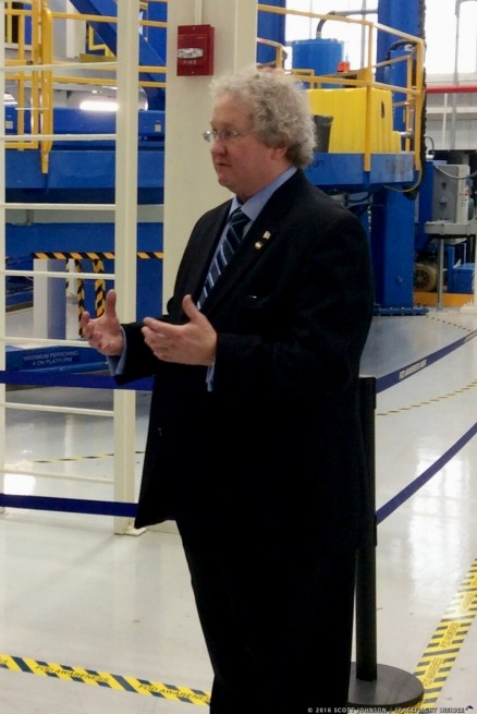 NASA's Bill Hill details elements of the new Space Launch System photo credit Scott Johnson / SpaceFlight Insider