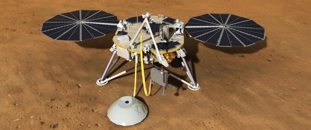 NASA InSIght mission on the surface of Mars Image Credit NASA JPL