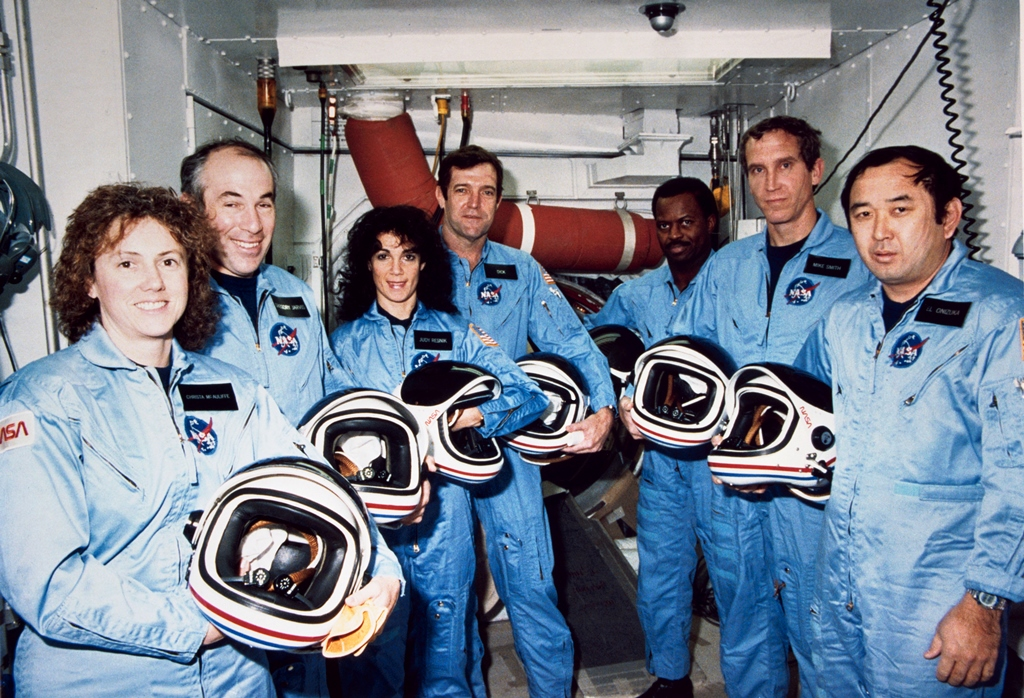 Crew of Space Shuttle Challenger STS-51L NASA photo posted on SpaceFlight Insider