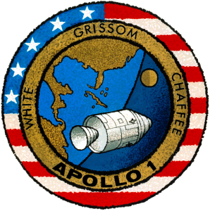 The patch for Apollo 1 Image Credit NASA