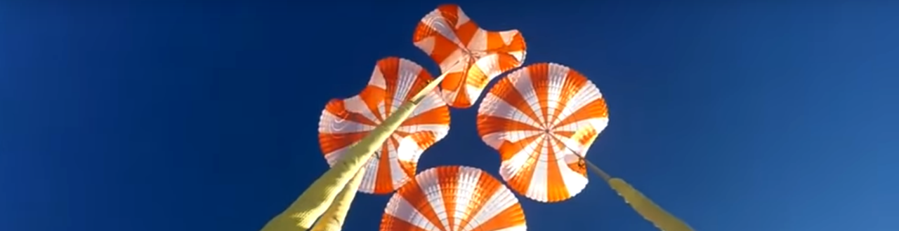 Crew Dragon parachute test.