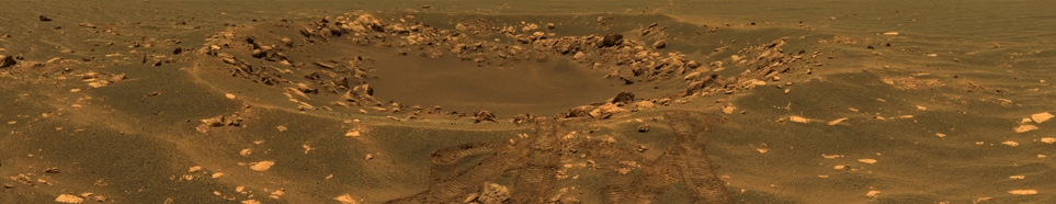 Mars Exploration Rover Opportunity image of Eagle Crater NASA JPL-Caltech photo posted on SpaceFlight Insider