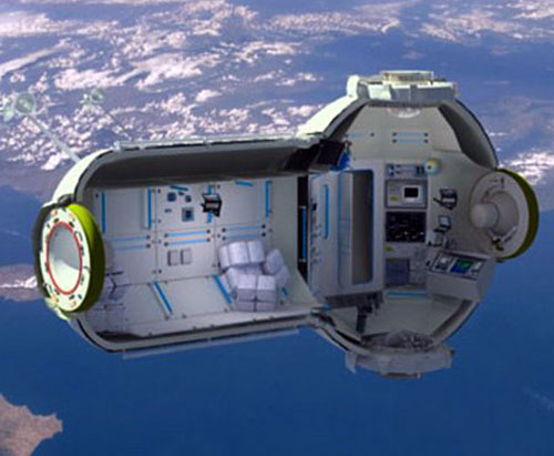 Inflatable space habitat on orbit above Earth Orbital Technologies image posted on SpaceFlight Insider
