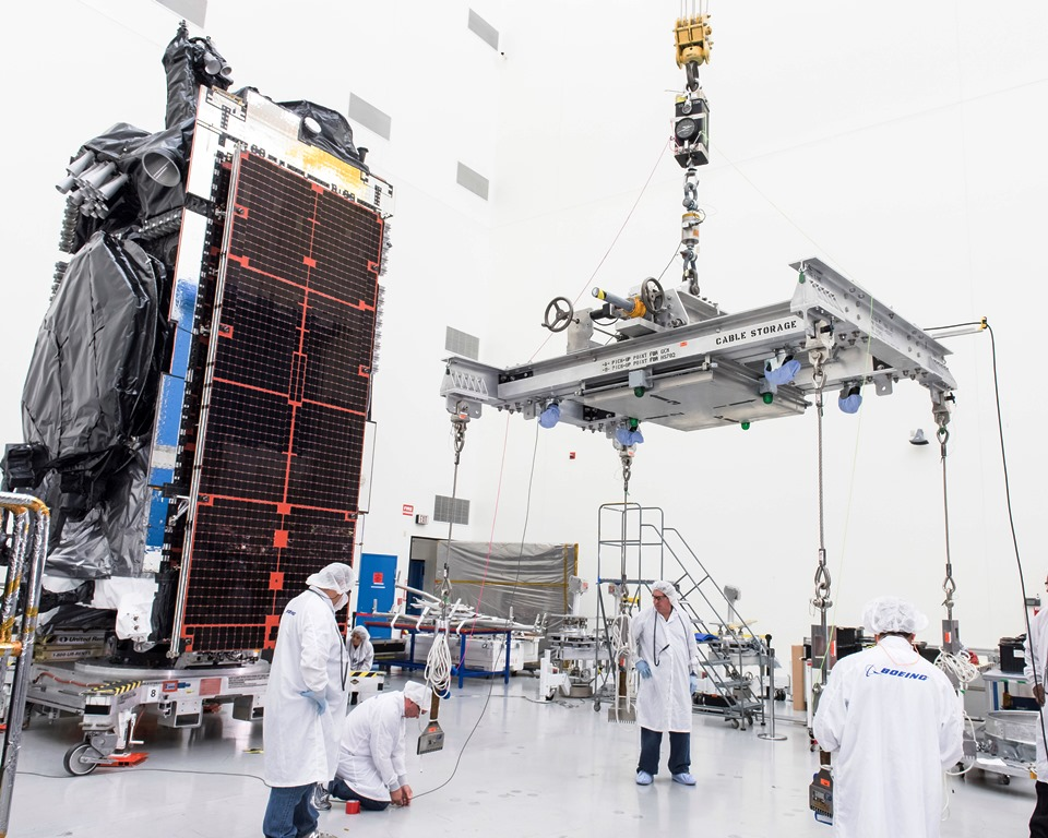 Intelsat 29e as seen before its January 2016 launch. Photo Credit: Boeing