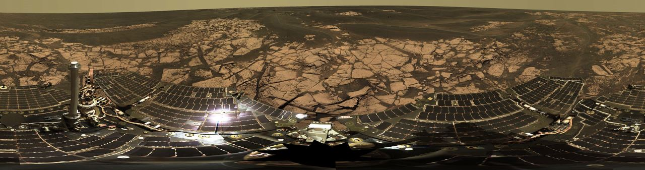 Mars Exploration Rover Erebus Crater Opportunity NASA JPL-Caltech image posted on SpaceFlight Insider