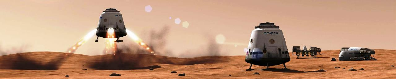 Mars Red Dragon SpaceX image posted on SpaceFlight Insider